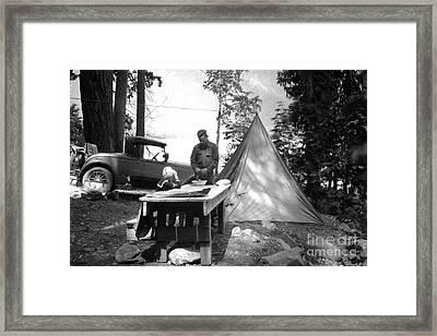Lake Crescent Camp Site Framed Print