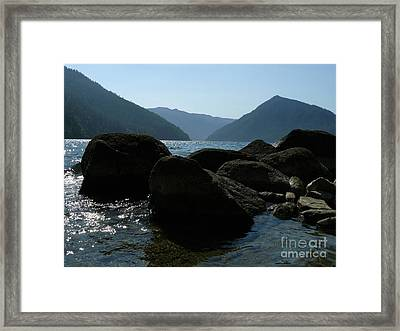 Framed Print featuring the photograph Lake Crescent by Jane Ford