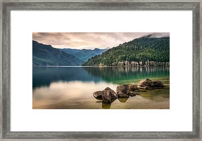 Lake Crescent Zen Framed Print