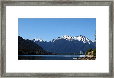 Lake Cushman - Olympic National Forest Framed Print