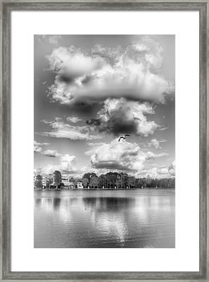 Lake De Soto Framed Print by Howard Salmon