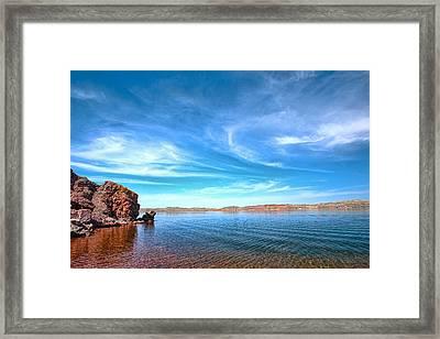 Lake Desmet Framed Print by Jana Thompson