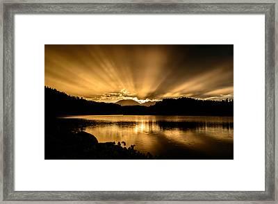 Lake Dillon Sunset Framed Print