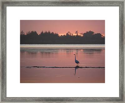 Lake Earl Sunset  Framed Print
