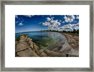 Lake Erie. Edgewater Park Framed Print by Michael Demagall