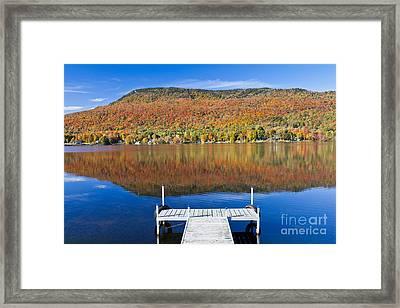 Lake Elmore Autumn Framed Print by Alan L Graham