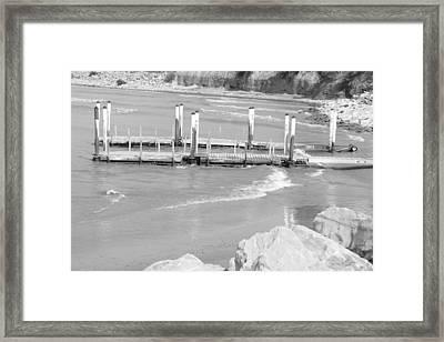 Lake Erie Dock Framed Print