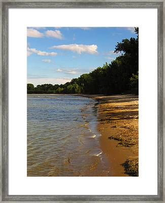 Lake Erie Shore 3 Framed Print