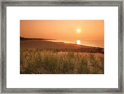 Lake Erie Sunset Framed Print by Garry McMichael