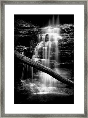 Lake Falls Framed Print by Jeff Burton
