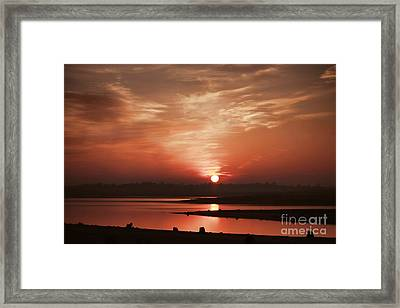 Framed Print featuring the photograph Lake Folsom California Sunset by Polly Peacock