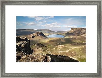 Lake Garba Guracha, Which Is An Truly Framed Print by Martin Zwick