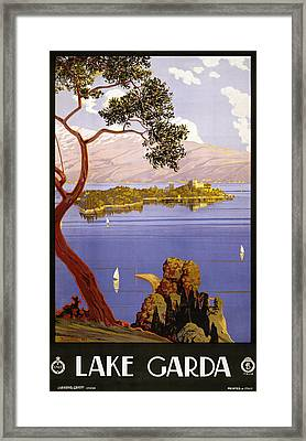 Lake Garda Framed Print by Georgia Fowler