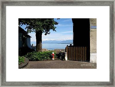 Lake Geneva Framed Print by Brenda Dorman