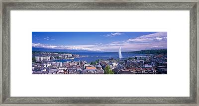 Lake Geneva, Geneva, Switzerland Framed Print
