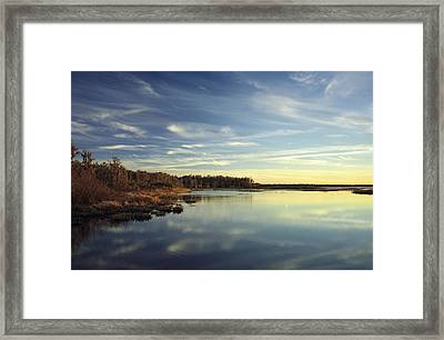 Lake Gentry Sunset II.  Framed Print by Chris  Kusik