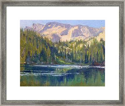 Lake George Framed Print by Sharon Weaver