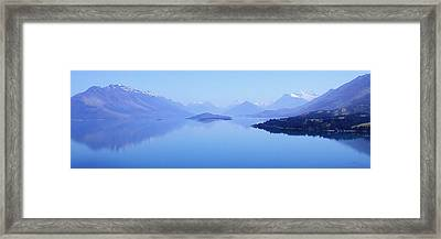 Lake Glenorchy New Zealand Framed Print by Ann Lauwers