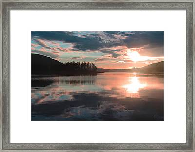 Lake Granby Sunset Framed Print by Chris Thomas