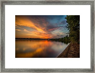 Lake Harriet Grand Finale Framed Print