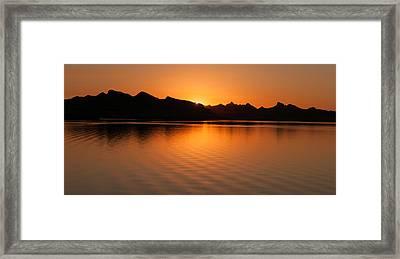 Lake Havasu Sunrise Framed Print by Avian Resources
