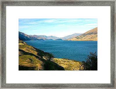 Framed Print featuring the photograph Lake Hawea by Stuart Litoff