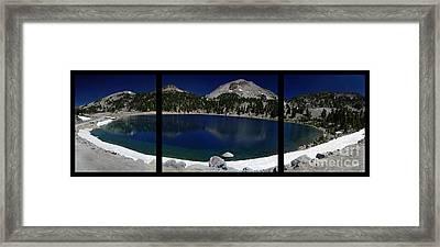 Lake Helen At Mt Lassen Triptych Framed Print by Peter Piatt