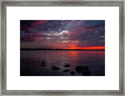 Lake Herman Sunset Framed Print