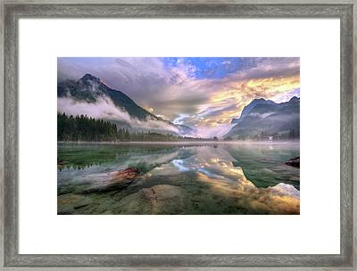 Lake Hintersee Framed Print
