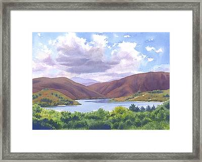 Lake Hodges San Diego Framed Print by Mary Helmreich