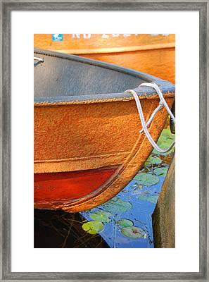 Lake Hopatcong Boat Framed Print