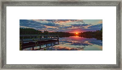 Lake Horicon Sunset 1 Framed Print