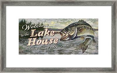 Lake House Bass Framed Print