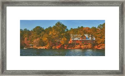 Lake House Framed Print