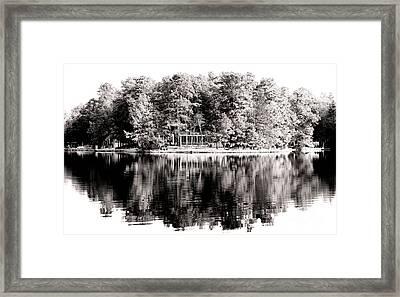 Lake House Framed Print by John Rizzuto
