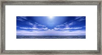 Lake Huron And Sky Framed Print by Vast Photography