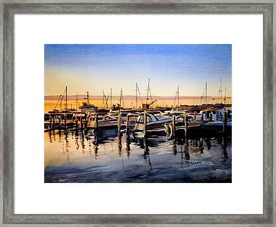 Lake Huron Sunrise Framed Print by Spencer Meagher