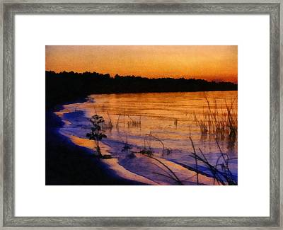 Lake Huron Sunset  Framed Print