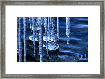 Lake Ice Framed Print