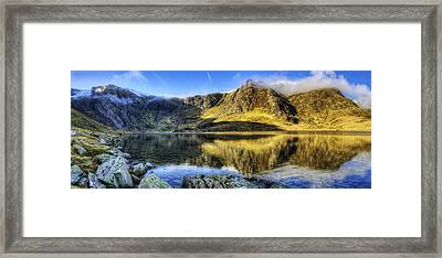 Lake Idwal Panorama Framed Print by Ian Mitchell