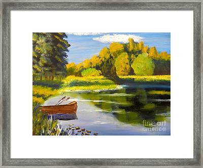 Lake Illawarra At Primbee Framed Print