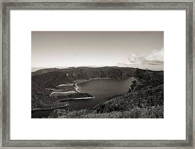 Lake In A Crater Framed Print