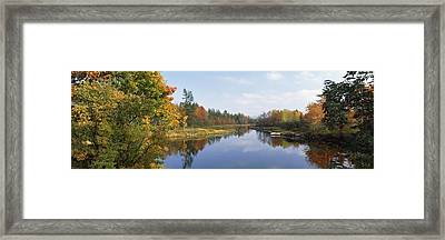 Lake In A Forest, Mount Desert Island Framed Print by Panoramic Images