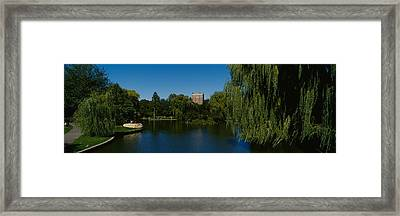 Lake In A Formal Garden, Boston Public Framed Print by Panoramic Images