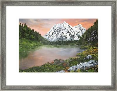 Framed Print featuring the painting Lake In Austria by Jean Walker