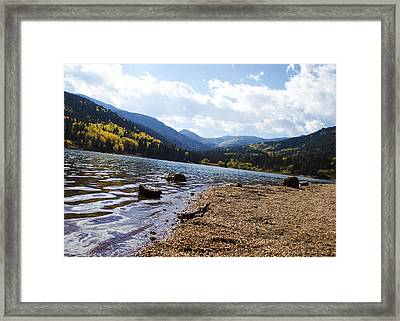 Lake In Colorado Rockies Framed Print