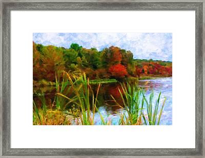 Lake In Early Fall Framed Print