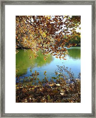 Lake In Early Fall Framed Print