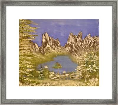 Lake In Glacier Framed Print