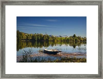 Lake In Switzerland Framed Print
